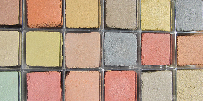Many concrete colours are available.